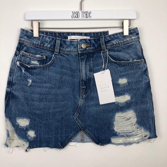 Zara Dresses & Skirts - NWT Zara trf denim wear jean skirt